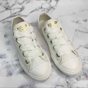 CONVERSE Sneakers Leather White Size 7